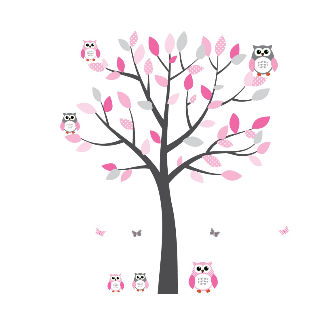 Gray and Pink Owl Clip Art – Cliparts