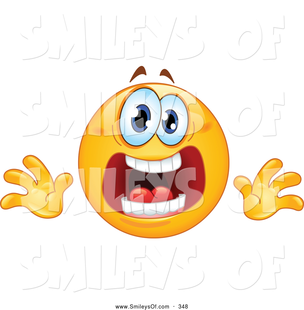 Vector Smiley Clipart Of Aupset Or Stressed Emoticon Face By Yayayoyo