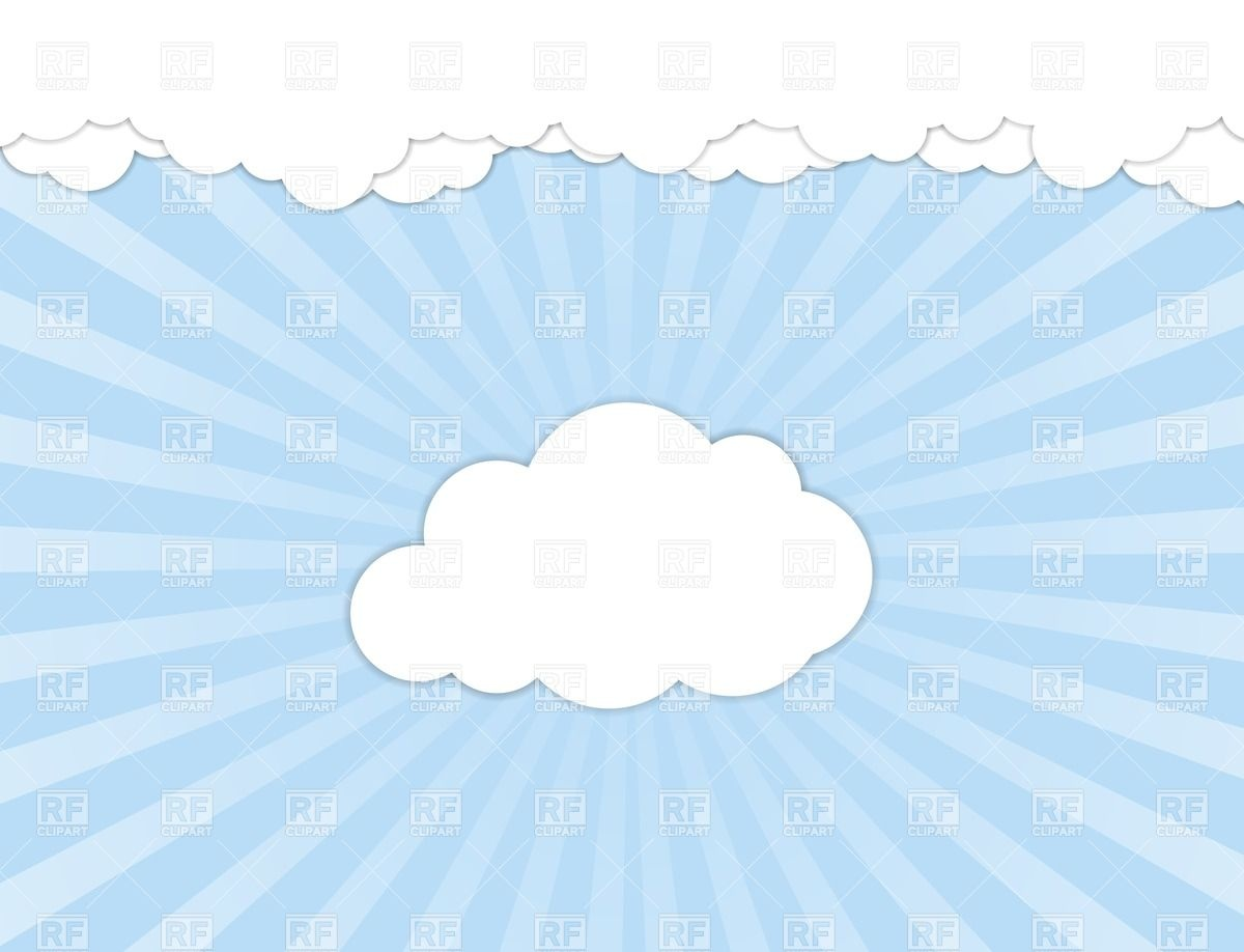White Clouds Over Blue Sky Download Royalty Free Vector Clipart  Eps