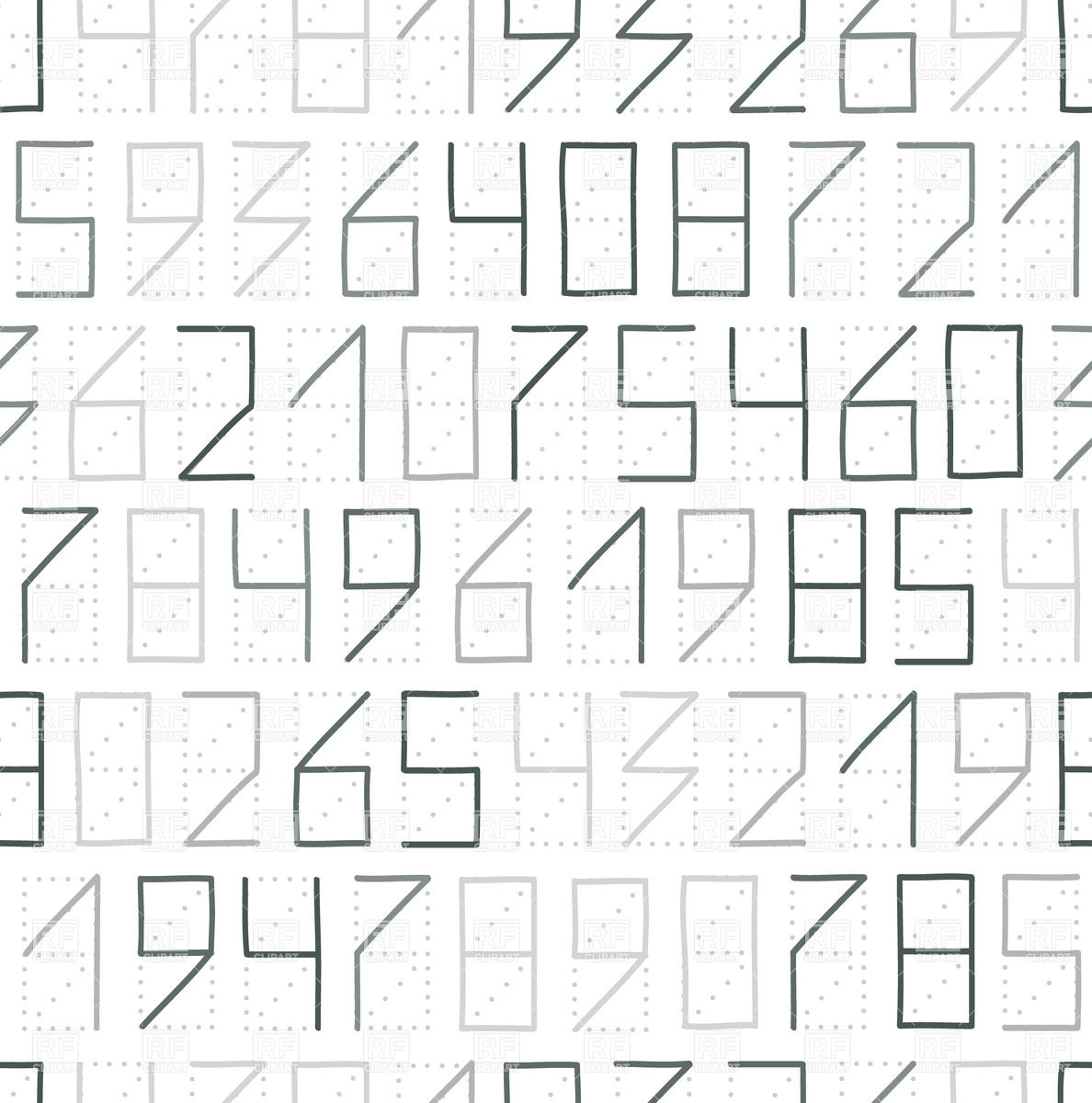 Zip Code Numbers   Seamless Pattern With Numerals Download Royalty