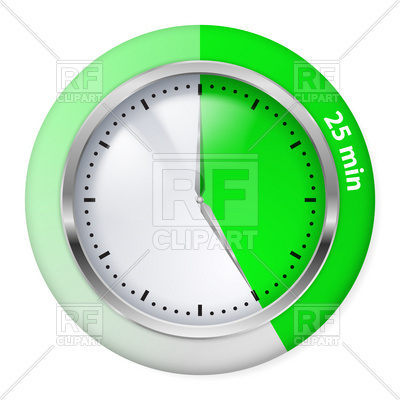 15 Minutes Blue Timer Icon Download Royalty Free Vector Clipart Eps