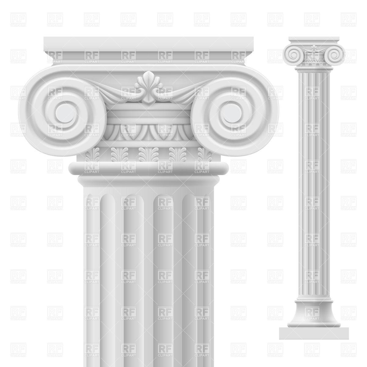 Pillar Clip Art : Greek columns clipart suggest
