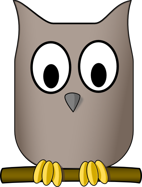 Blue Gray Owl Clipart