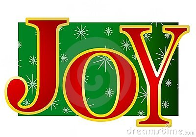 Clip Art Illustration Of The Word  Joy  In Large Colorful Letters