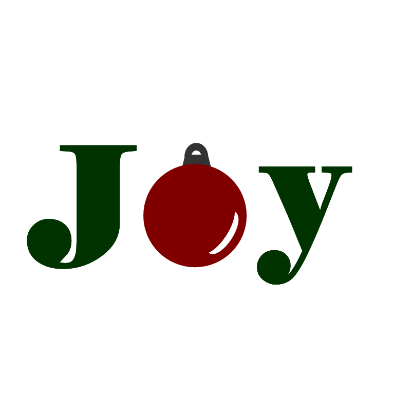 Joy Christmas Clipart Holiday Word Art   Joy
