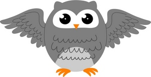 Gray Owl Clipart - Clipart Suggest