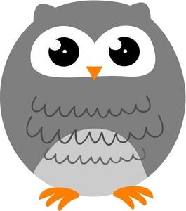 Gray Owl Clipart - Clipart Kid