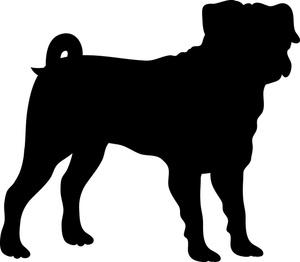 Pug Silhouette Clipart - Clipart Kid
