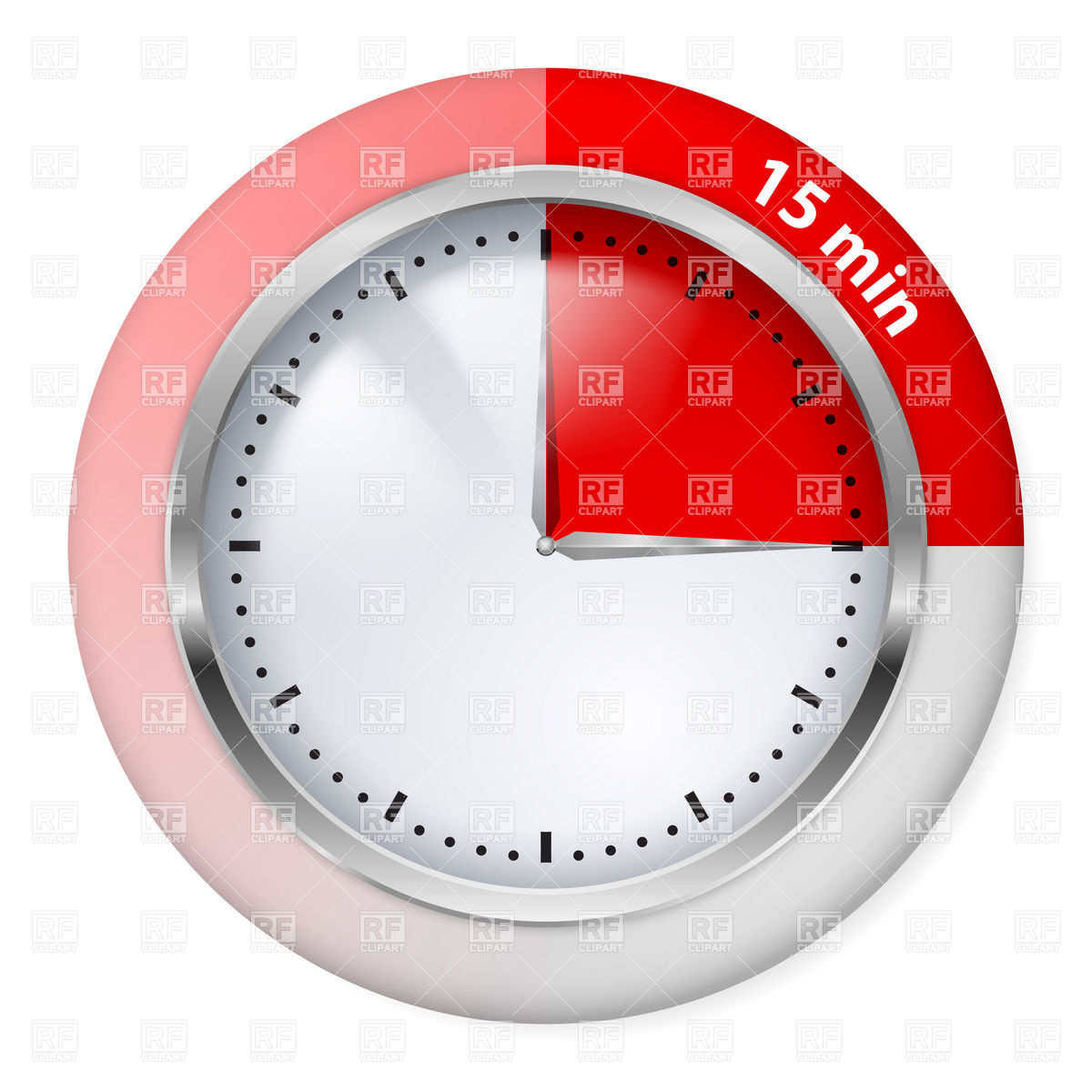 Red 15 Minutes Timer Icon Download Royalty Free Vector Clipart  Eps