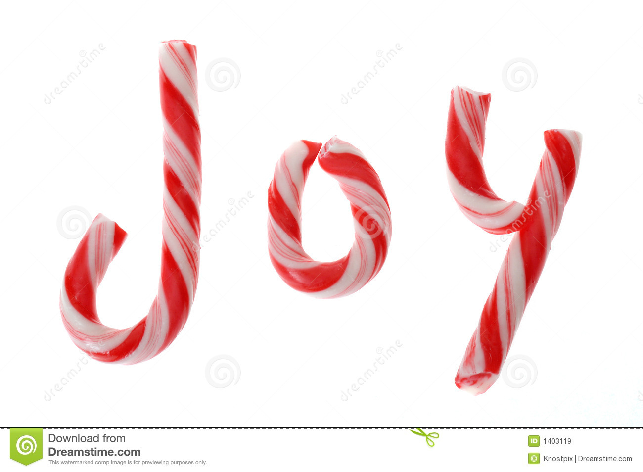 Shows Candy Canes That Spell Out The Word  Joy  On White Background