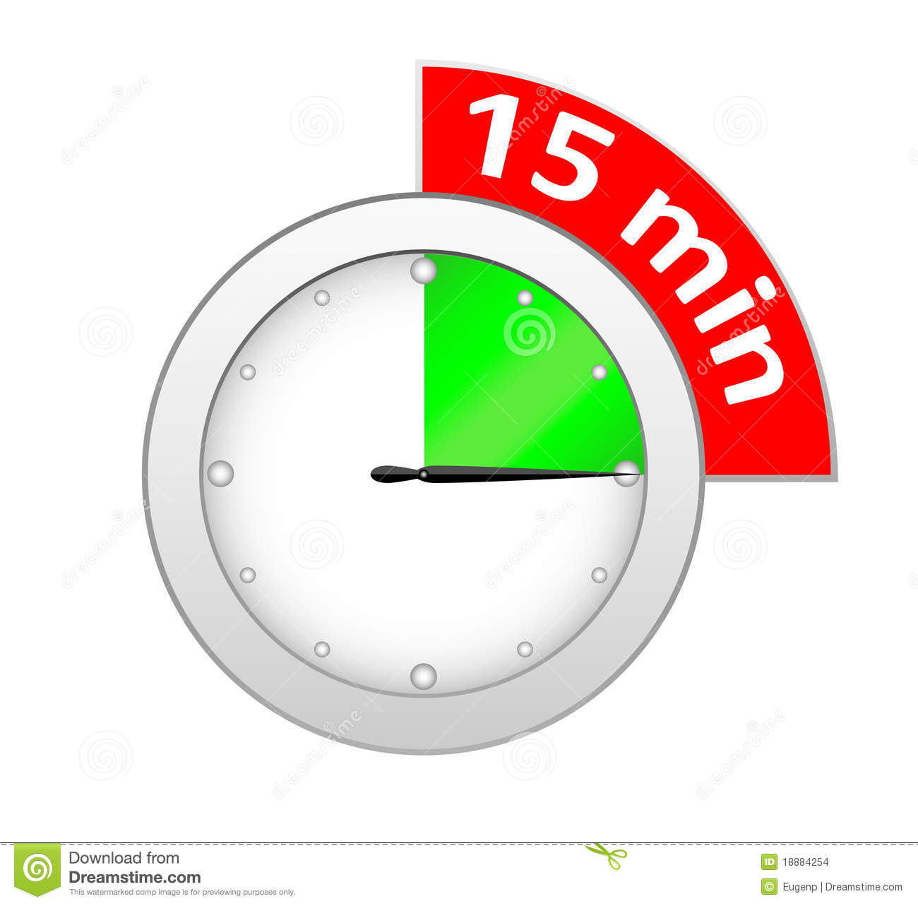 15 timer clipart
