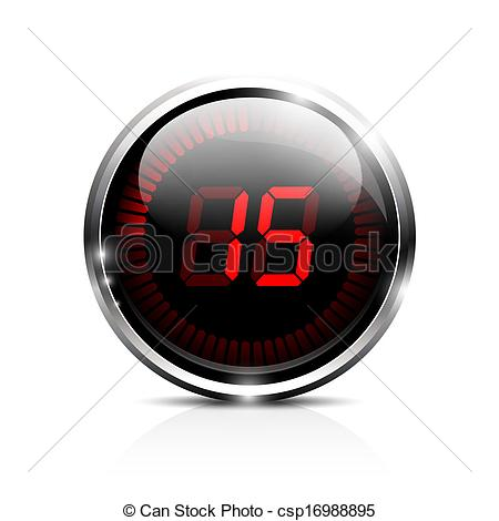 Vectors Of Electronic Timer 15 Seconds   Electronic Brilliant Timer 15