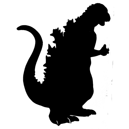 10 Godzilla Silhouette Vector Free Free Cliparts That You Can Download