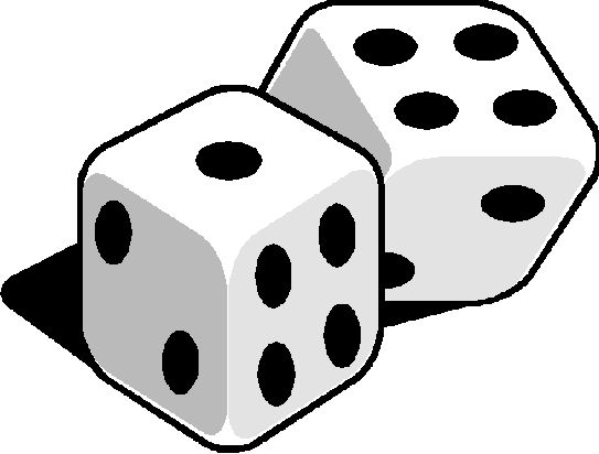 Black And White Dice Clipart   Clipart Panda   Free Clipart Images