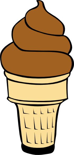Chocolate Soft Serve Ice Cream Cone Clip Art At Clker Com   Vector