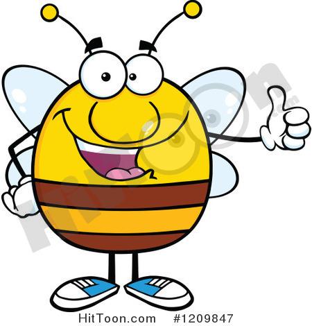 Happy Bee Clipart - Clipart Kid