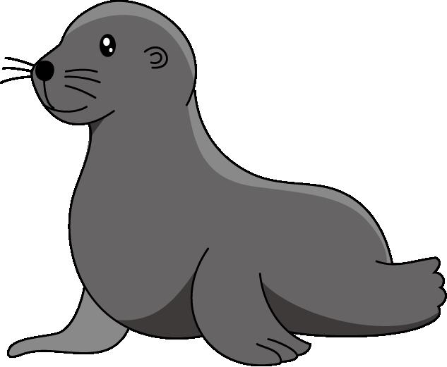 Sea lion clipart black and white - photo#8
