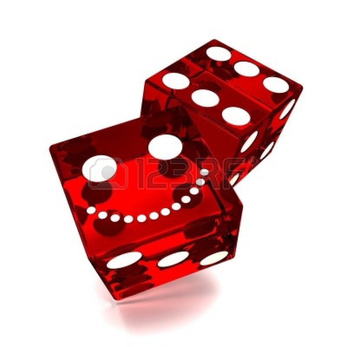Bunco Dice Clipart 10516085 Red Dice On White Background Jpg