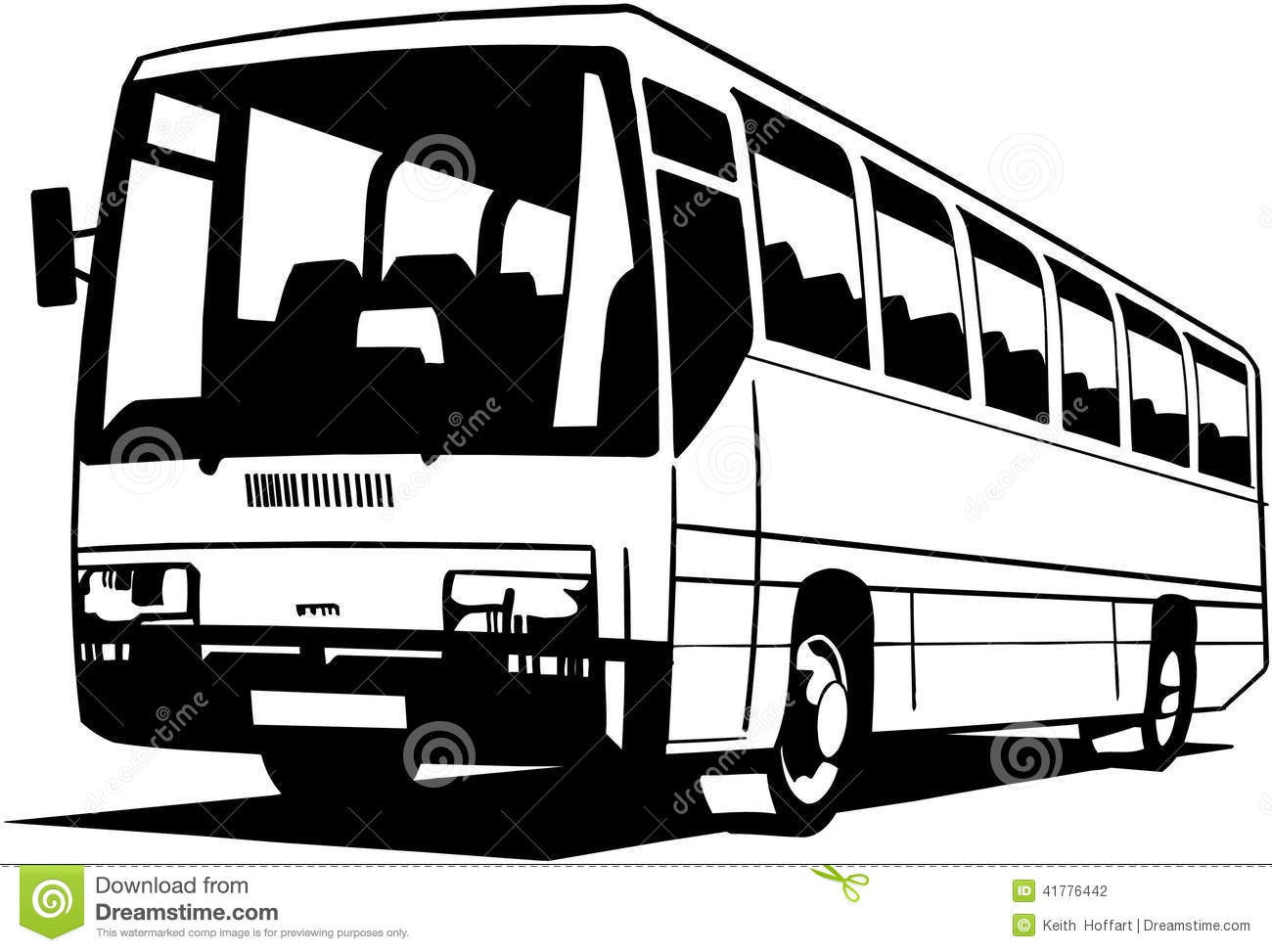 City Bus Cartoon Vector Clipart Created In Adobe Illustrator In Eps