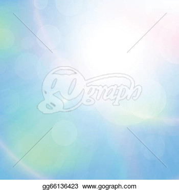 Clear Blue Sky With Clouds Vector Abstract Background  Clipart Drawing