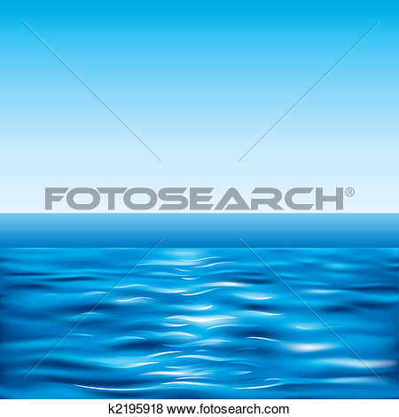 Clip Art   Blue Sea And Clear Sky  Fotosearch   Search Clipart