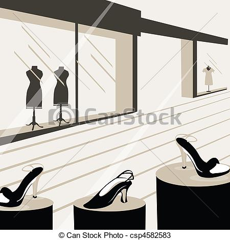 Drawings Of Window Display   Showroom Csp4582583   Search Clipart