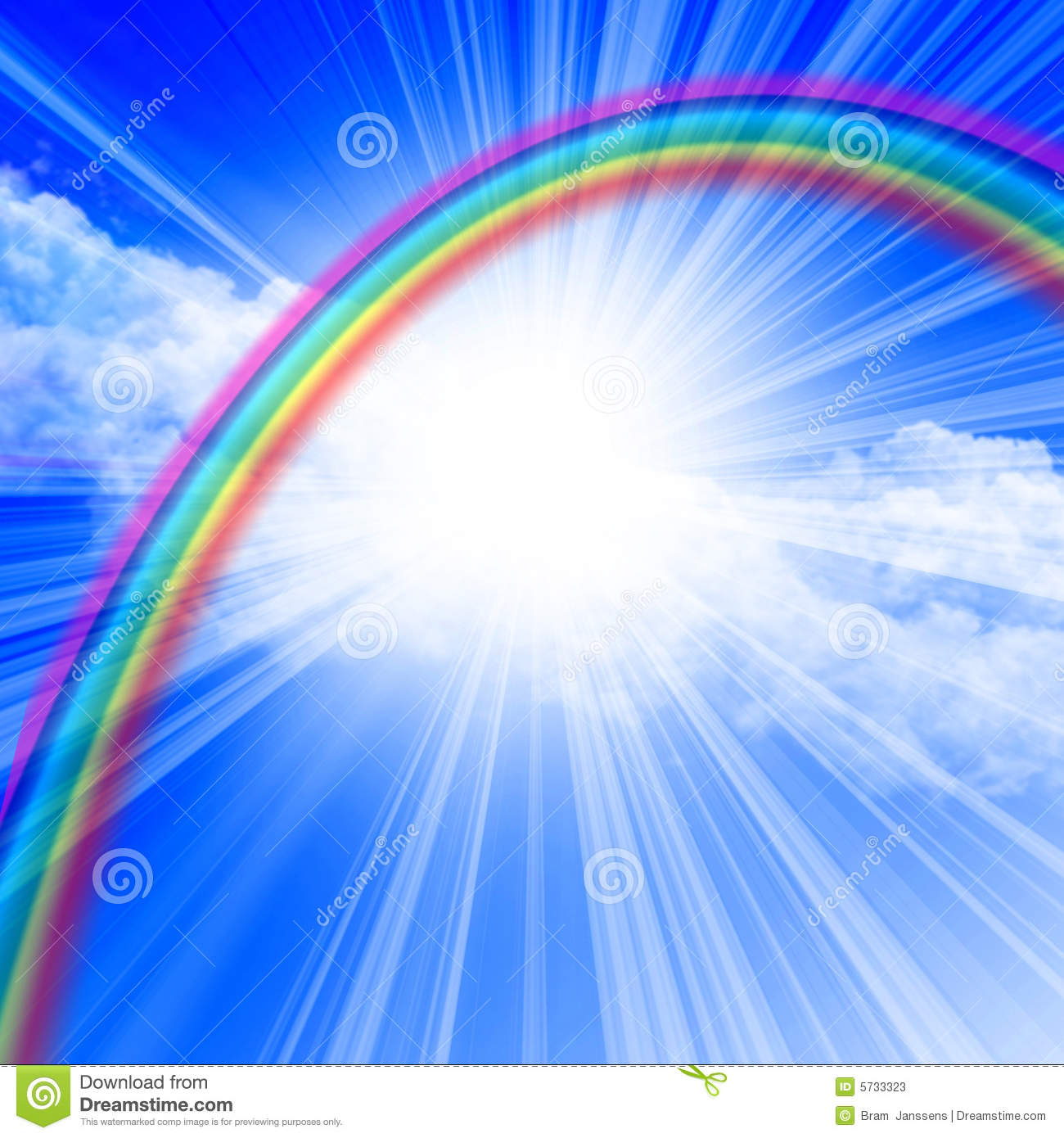 More Similar Stock Images Of   Clear Blue Sky With Rainbow