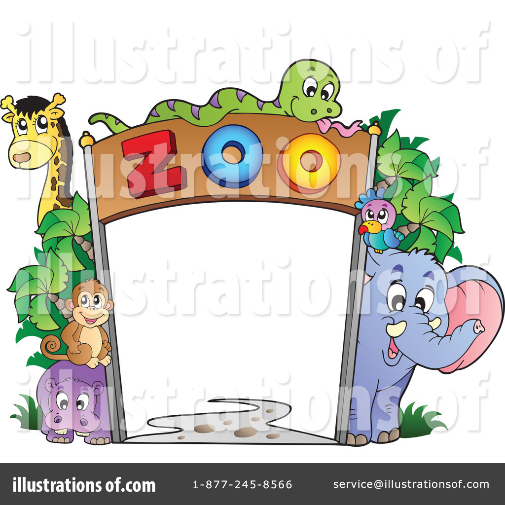 Royalty Free  Rf  Zoo Clipart Illustration By Visekart   Stock Sample