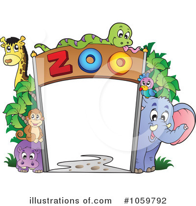 Royalty Free Zoo Clipart Illustration 1059792 Jpg