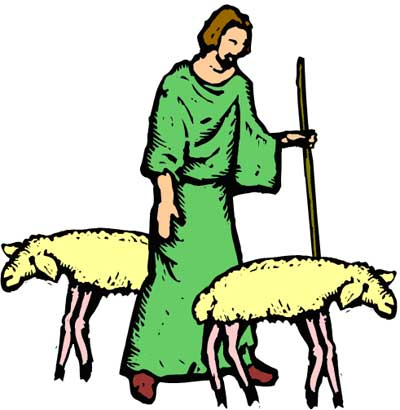 Shepherd With Sheep Clip Art