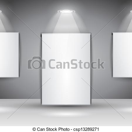Showroom Panel For Slogan Exposition Or Advertising Of Object Or To