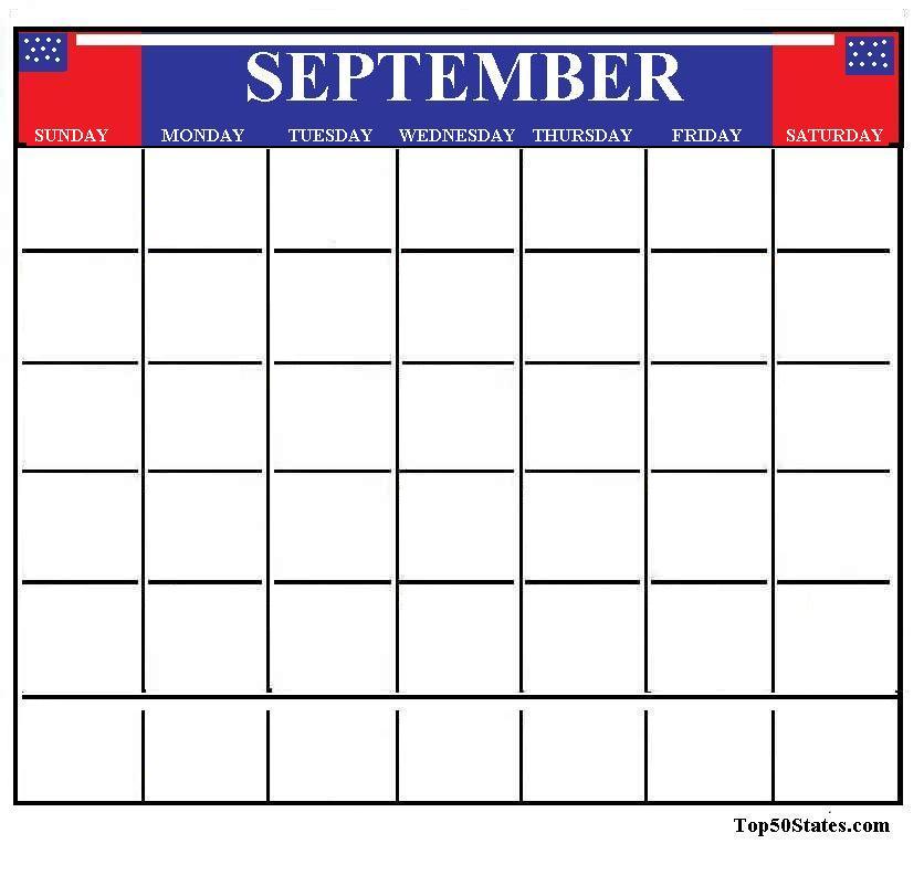 Calendar September Clipart - Clipart Kid