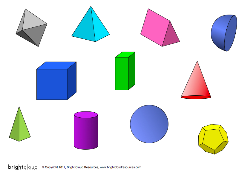 3d Shapes Clipart - Clipart Kid