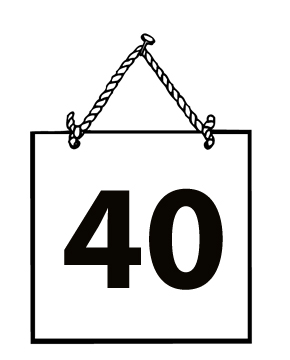 Number 40 Clipart - Clipart Suggest