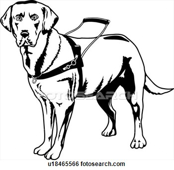 Clip Art Of Guide Dog U18465566   Search Clipart Illustration Posters