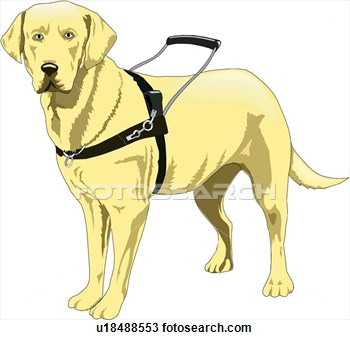 Clipart   Guide Dog  Fotosearch   Search Clipart Illustration Posters