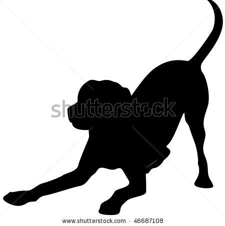 Download Vector About Black Lab Silhouette Clip Art Item 4  Vector