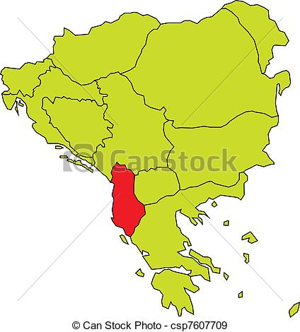 Appealing albania map vector pictures