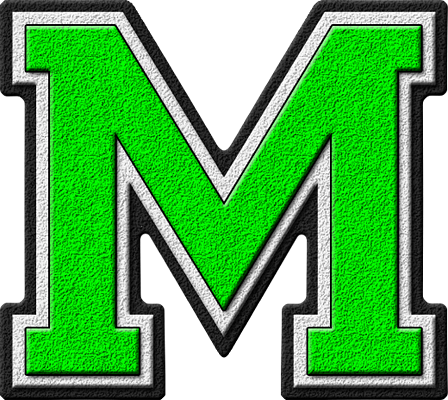 Etc Home Alphabets Varsity Letters Kelly Green Letter M Site
