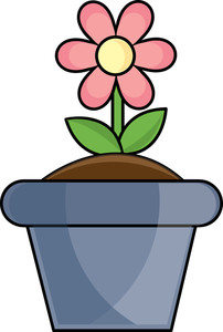 Flower Pot Clipart Image   Clip Art Image Of A Spring Flower