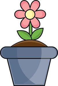 Clip Art Flower Pot Clipart spring flower pot clipart kid image clip art of a flower