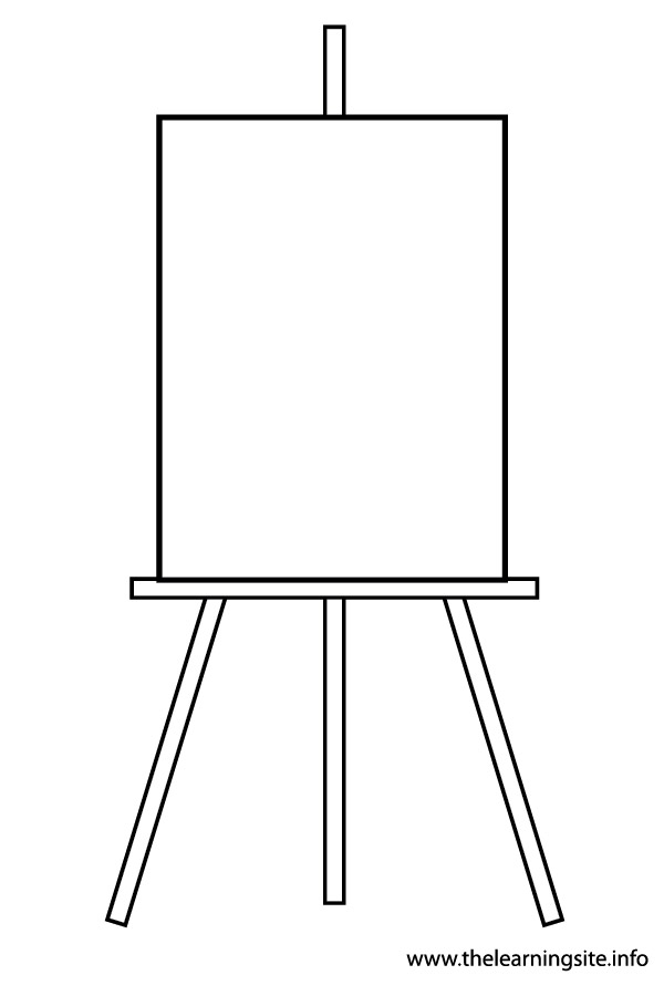 Painting Easel Coloring Page