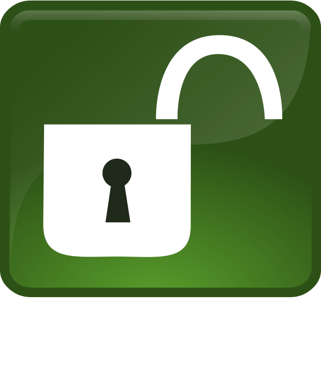 Open lock clipart clipart suggest - Locked door clipart ...