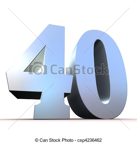 Gallery Number 40 Clipart