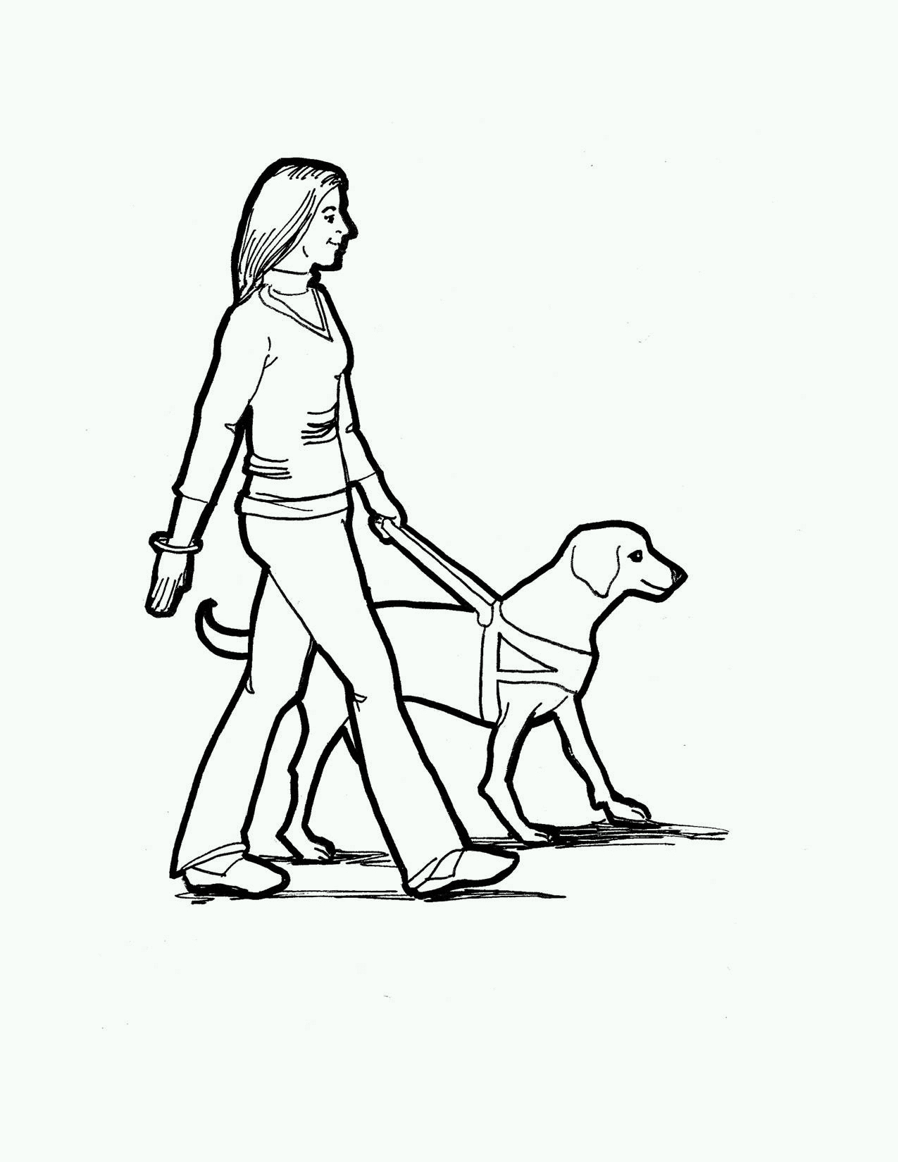 Guide Dog Clipart - Clipart Kid