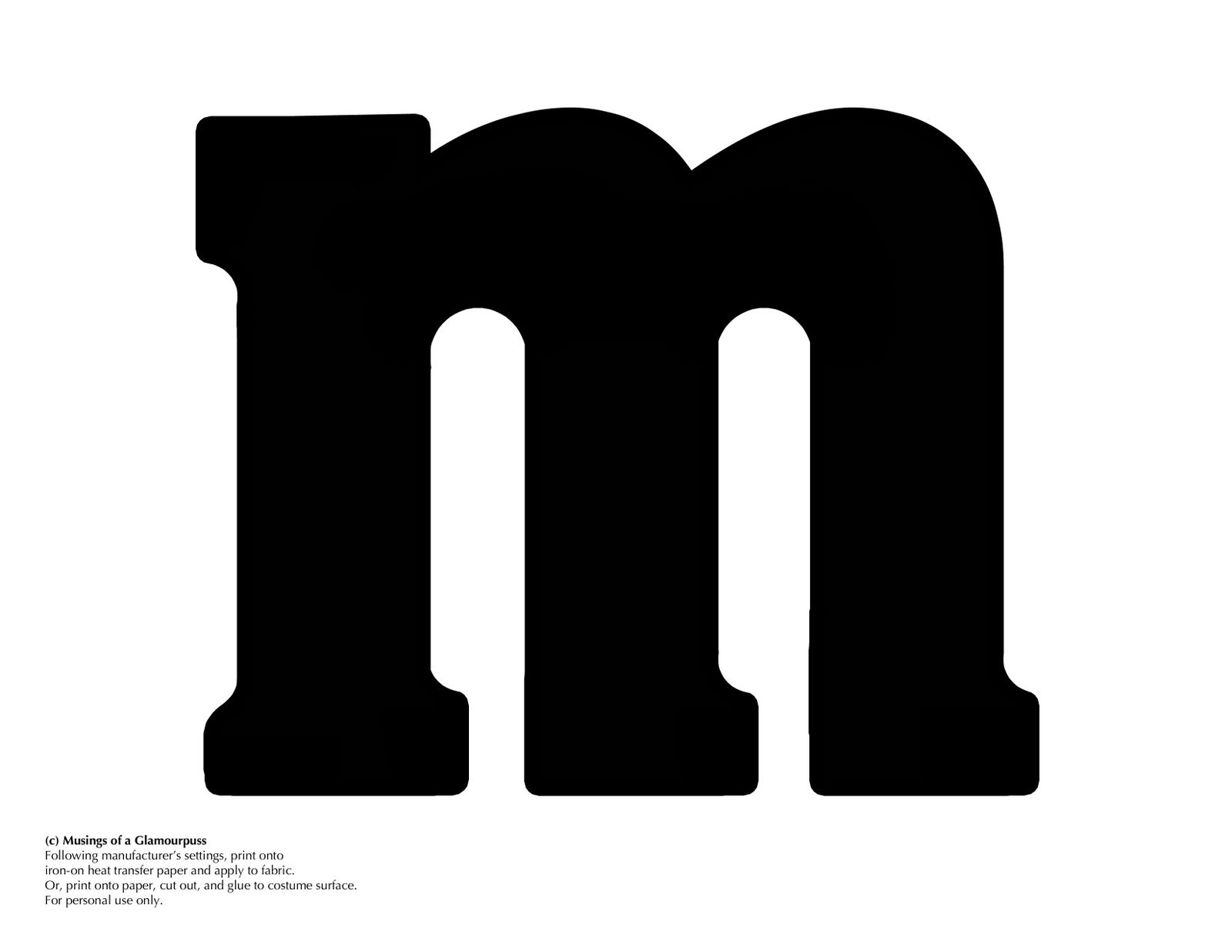 Letter M Template M  Linking Up With Some Great