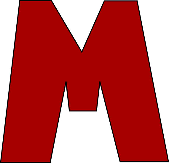 Red Letter M Clip Art Image   Large Red Capital Letter M