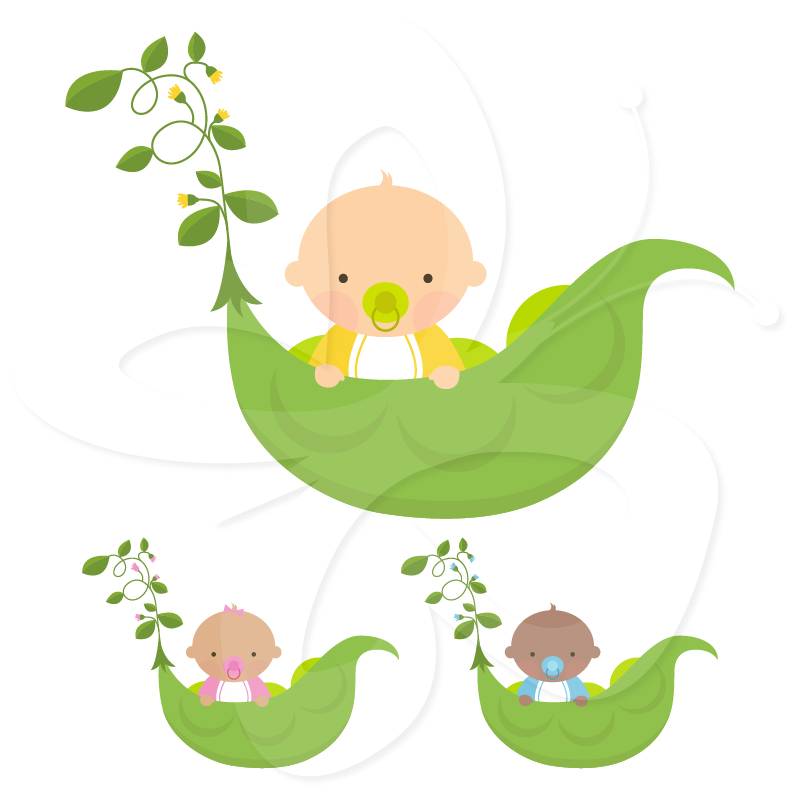 Sweet Pea Baby Clip Art   Creative Clipart Collection