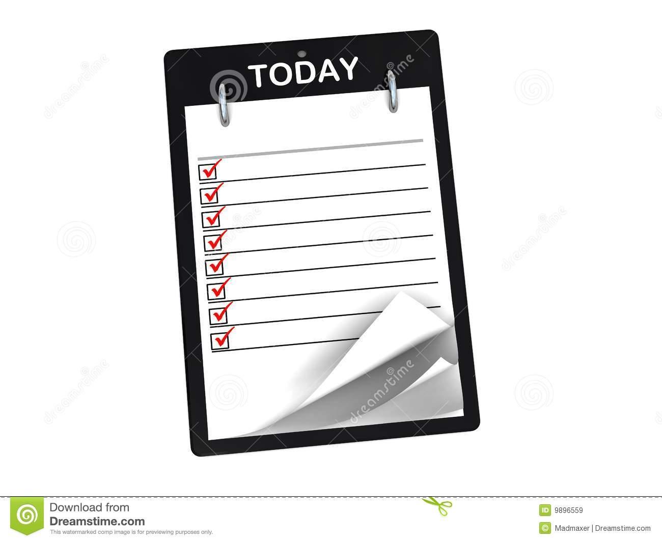 Task List Clipart - Clipart Kid