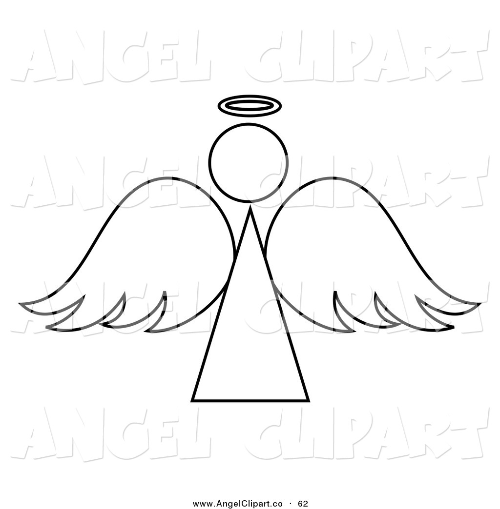 Black And White Angel Clipart - Clipart Kid